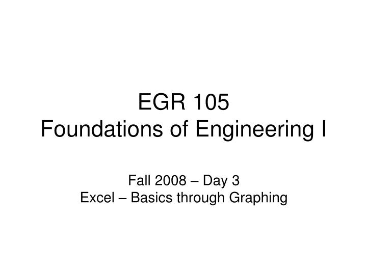 egr 105 foundations of engineering i n.