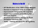 history in the iaf