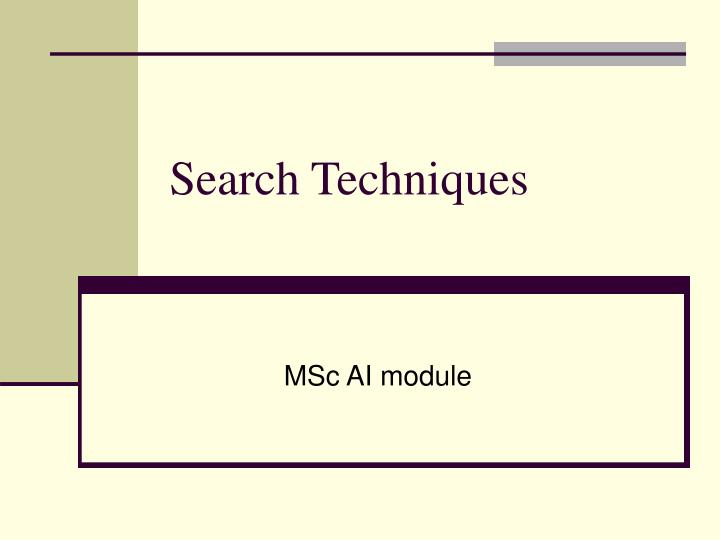 search techniques n.