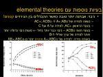 elemental theories