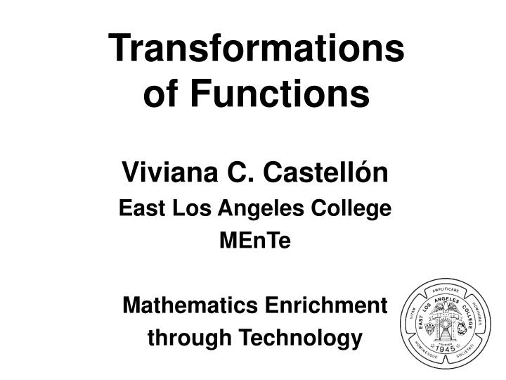 transformations of functions n.