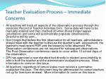 teacher evaluation process immediate concerns2