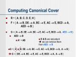 computing canonical cover7
