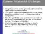 common foodservice challenges