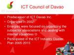 ict council of davao