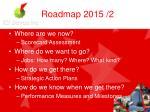 roadmap 2015 2