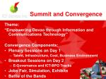 summit and convergence