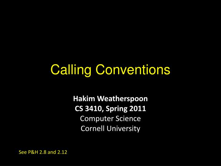 calling conventions n.