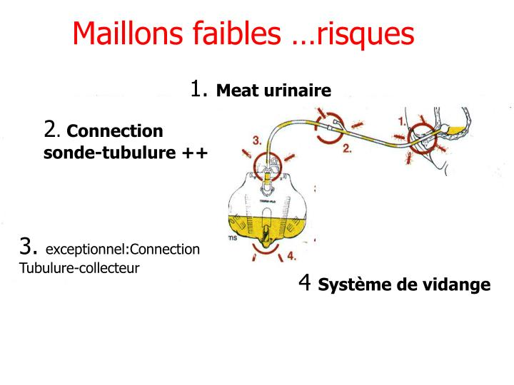 Maillons faibles …risques