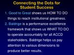 connecting the dots for student success
