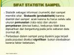 sifat statistik sampel