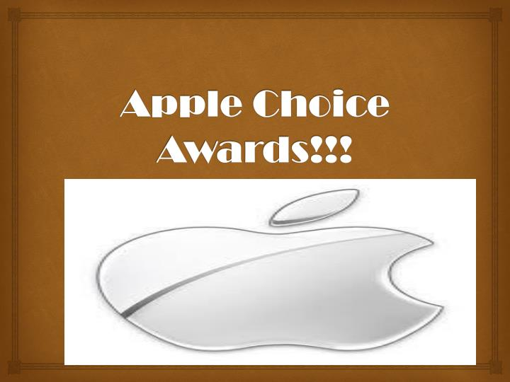 apple choice awards n.