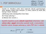 1 pdf bernoulli