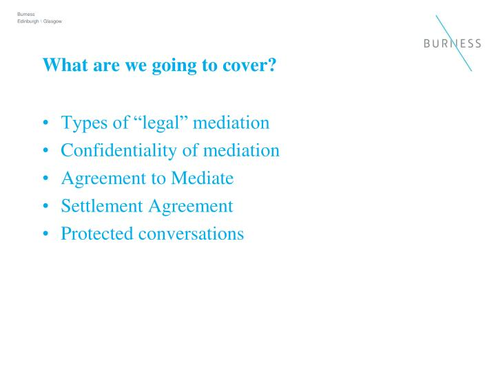 What are we going to cover