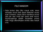 file random