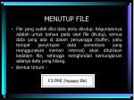 menutup file