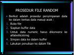 prosedur file random