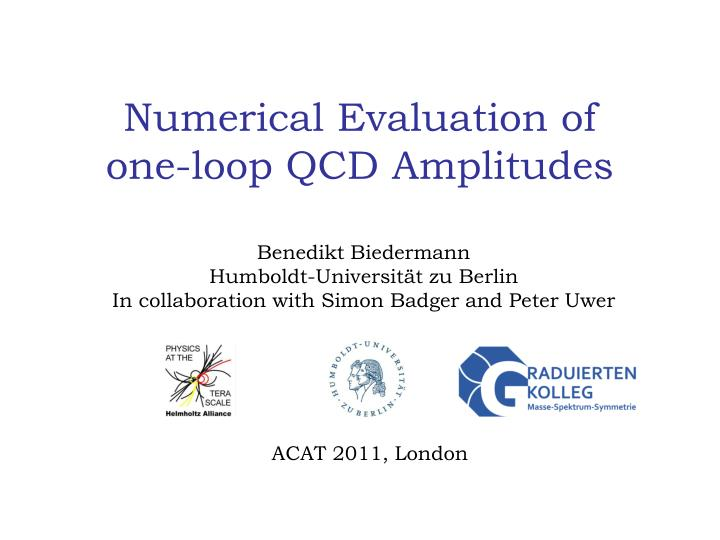 numerical evaluation of one loop qcd amplitudes n.