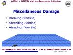 miscellaneous damage
