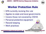 worker protection rule
