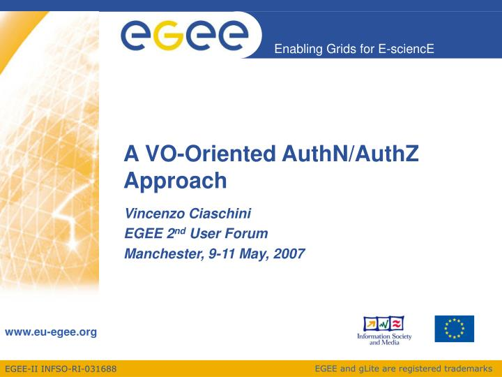 a vo oriented authn authz approach n.