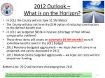 2012 outlook what is on the horizon
