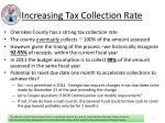 increasing tax collection rate