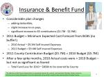 insurance benefit fund