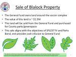 sale of blalock property