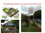 neighborhood park as common pool resource