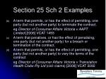 section 25 sch 2 examples