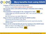 more benefits from using ggus