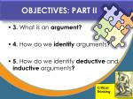 objectives part ii