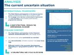 analysis the current uncertain situation