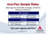 acci flex sample rates