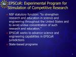epscor experimental program for stimulation of competitive research