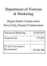 department of tourism marketing