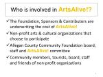 who is involved in artsalive