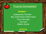 program development13