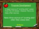 program development14
