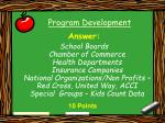 program development15