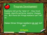 program development16