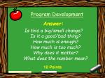 program development17