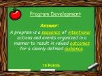 program development21