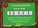 program development36