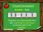 program development37