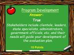 program development49