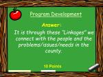 program development5