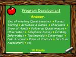 program development55