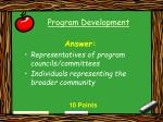 program development7